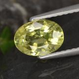 thumb image of 1.3ct Oval Facet Golden Green Chrysoberyl (ID: 366641)