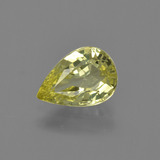 thumb image of 1.3ct Pear Facet Golden Green Chrysoberyl (ID: 366666)