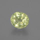 thumb image of 1.5ct Oval Facet Golden Green Chrysoberyl (ID: 367118)