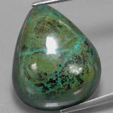 thumb image of 38.4ct Pear Cabochon Multicolor Chrysocolla (ID: 333858)