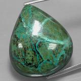 thumb image of 48.7ct Pear Cabochon Multicolor Chrysocolla (ID: 333861)