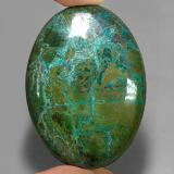 thumb image of 166.7ct Oval Cabochon Multicolor Chrysocolla (ID: 334021)