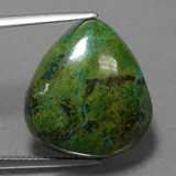 thumb image of 25.8ct Pear Cabochon Multicolor Chrysocolla (ID: 456031)