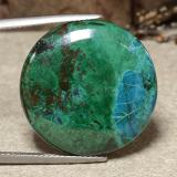 thumb image of 28.2ct Round Cabochon Multicolor Chrysocolla (ID: 486551)