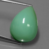 thumb image of 14.1ct Pear Cabochon Green Chrysoprase (ID: 254326)