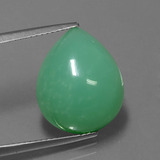 thumb image of 12.5ct Pear Cabochon Green Chrysoprase (ID: 271539)