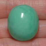 thumb image of 39.5ct Oval Cabochon Green Chrysoprase (ID: 329156)