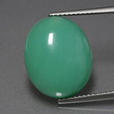 thumb image of 12ct Oval Cabochon Green Chrysoprase (ID: 404177)