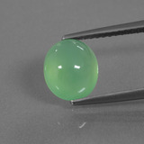 thumb image of 2.3ct Oval Cabochon Green Chrysoprase (ID: 447117)