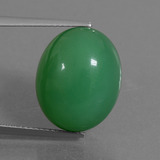 thumb image of 15.9ct Oval Cabochon Green Chrysoprase (ID: 450836)
