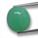 thumb image of 10.2ct Oval Cabochon Green Chrysoprase (ID: 460327)