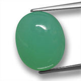 thumb image of 8.7ct Oval Cabochon Green Chrysoprase (ID: 460329)