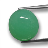 thumb image of 11.7ct Oval Cabochon Green Chrysoprase (ID: 460331)