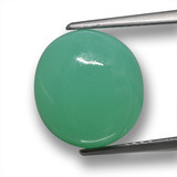 thumb image of 6.9ct Oval Cabochon Green Chrysoprase (ID: 460332)