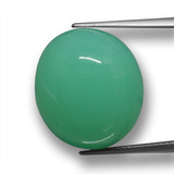 thumb image of 21.7ct Oval Cabochon Green Chrysoprase (ID: 460338)