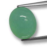 thumb image of 4.6ct Oval Cabochon Green Chrysoprase (ID: 460495)