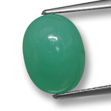 thumb image of 4.4ct Oval Cabochon Green Chrysoprase (ID: 460497)