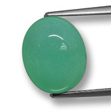 thumb image of 5.2ct Oval Cabochon Green Chrysoprase (ID: 460498)