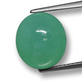 thumb image of 6ct Oval Cabochon Green Chrysoprase (ID: 460501)