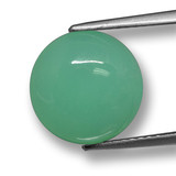 thumb image of 4.7ct Round Cabochon Green Chrysoprase (ID: 460503)