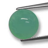 thumb image of 5ct Round Cabochon Green Chrysoprase (ID: 460504)