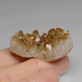 57.68 ct Fancy Crystal Cluster Yellow Golden Citrine Geode Gem 35.46 mm x 18.8 mm (Photo C)