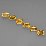 thumb image of 6.9ct Octagon Step Cut Yellow Golden Citrine (ID: 275668)