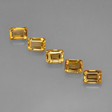 thumb image of 5.4ct Octagon Step Cut Yellow Golden Citrine (ID: 275675)