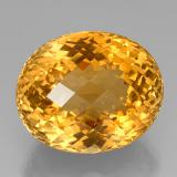 thumb image of 45.3ct Oval Checkerboard Yellow Golden Citrine (ID: 327918)