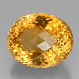 45.30 ct Oval Checkerboard Yellow Golden Citrine Gem 23.97 mm x 19.7 mm (Photo B)