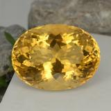 thumb image of 40.3ct Oval Portuguese-Cut Golden Yellow Citrine (ID: 331397)