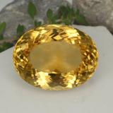 thumb image of 34.9ct Oval Portuguese-Cut Yellow Golden Citrine (ID: 331475)