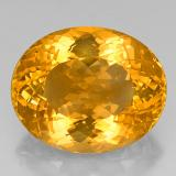 thumb image of 40.5ct Oval Portuguese-Cut Yellow Golden Citrine (ID: 331492)