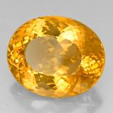 40.53 ct Oval Portuguese-Cut Yellow Golden Citrine Gem 24.82 mm x 20.4 mm (Photo B)