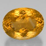 thumb image of 38.3ct Oval Portuguese-Cut Yellow Golden Citrine (ID: 332352)