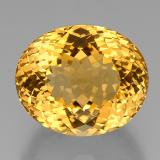 thumb image of 37.9ct Oval Portuguese-Cut Yellow Golden Citrine (ID: 332361)