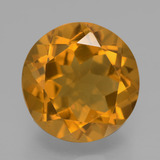 thumb image of 6ct Round Facet Yellow Golden Citrine (ID: 332601)