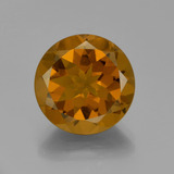thumb image of 8.8ct Round Facet Yellow Orange Citrine (ID: 333296)