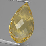 thumb image of 8.7ct Briolette with Hole Yellow Golden Citrine (ID: 366677)