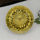 thumb image of 29ct Round Portuguese-Cut Yellow Golden Citrine (ID: 377117)