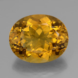 thumb image of 40.5ct Oval Facet Yellow Golden Citrine (ID: 377923)