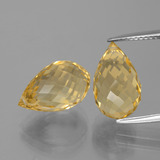thumb image of 10.5ct Briolette with Hole Yellow Golden Citrine (ID: 385439)