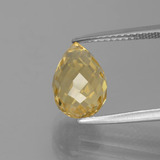 thumb image of 3.7ct Briolette with Hole Yellow Golden Citrine (ID: 385441)