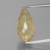 thumb image of 7.5ct Briolette with Hole Yellow Golden Citrine (ID: 385445)