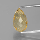 thumb image of 4.6ct Briolette with Hole Yellow Golden Citrine (ID: 385446)