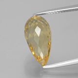 thumb image of 6.1ct Briolette with Hole Yellow Golden Citrine (ID: 385567)