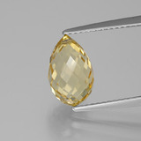 thumb image of 3.3ct Briolette with Hole Yellow Golden Citrine (ID: 385623)