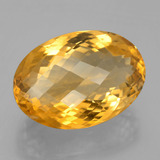 24.77 ct Oval Checkerboard Yellow Golden Citrine Gem 21.52 mm x 15.1 mm (Photo B)
