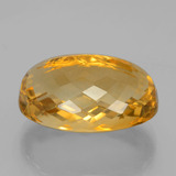 24.77 ct Oval Checkerboard Yellow Golden Citrine Gem 21.52 mm x 15.1 mm (Photo C)