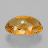 23.27 ct Oval Checkerboard Yellow Golden Citrine Gem 23.09 mm x 14.9 mm (Photo C)